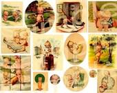 Vintage KEWPIES KEWPIES KEWPIES  Digital Collage Sheet