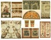 Vintage Renaissance Design Motifs... Digital Collage Sheet