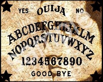 OUIJA  Board ELVIS  Spirit  retro icon Altered  8x10  Digital Download