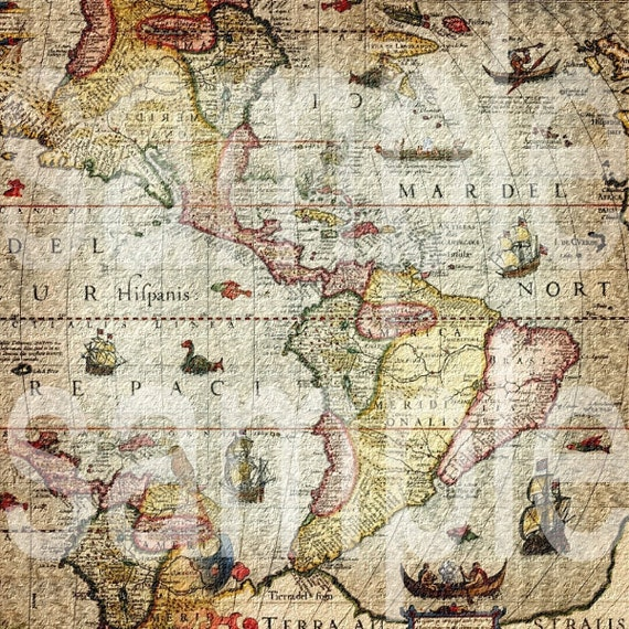 Site Map Digital: Items Similar To 12x12 Scrapbook Paper Antique Altered