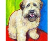 Wheaten Terrier Art Print from original Painting, Wheatie Bright