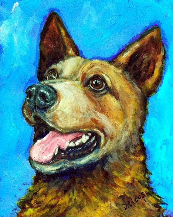 Items Similar To Australian Cattle Dog Red Heeler Dog