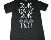 Run Baby Run Half Marathon Turtle Tee - FOR BLACK FRIDAY take 20% off listed price, enjoy :)