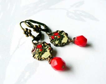 petite chinoise - vintage tin and brass earrings