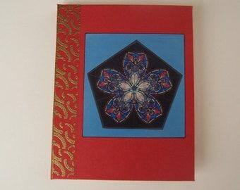 Red Kaleidoscope 2 blank book