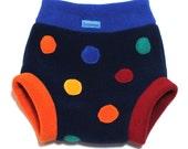 SALE Rainbow Smartie-pants PippyBob Fluffypants fleece diaper cover (medium)