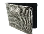 Jetsam Wallet - Recycled Tweed Suit - Grey Herringbone
