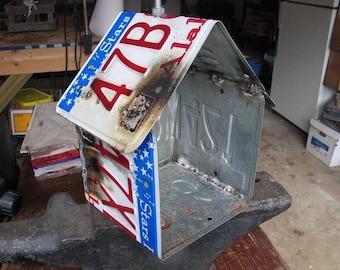 Alabama License Plate Birdhouse