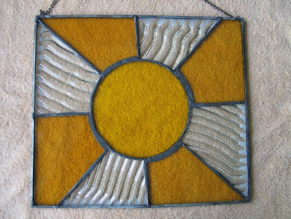The Mighty Sun Stained Glass Panel