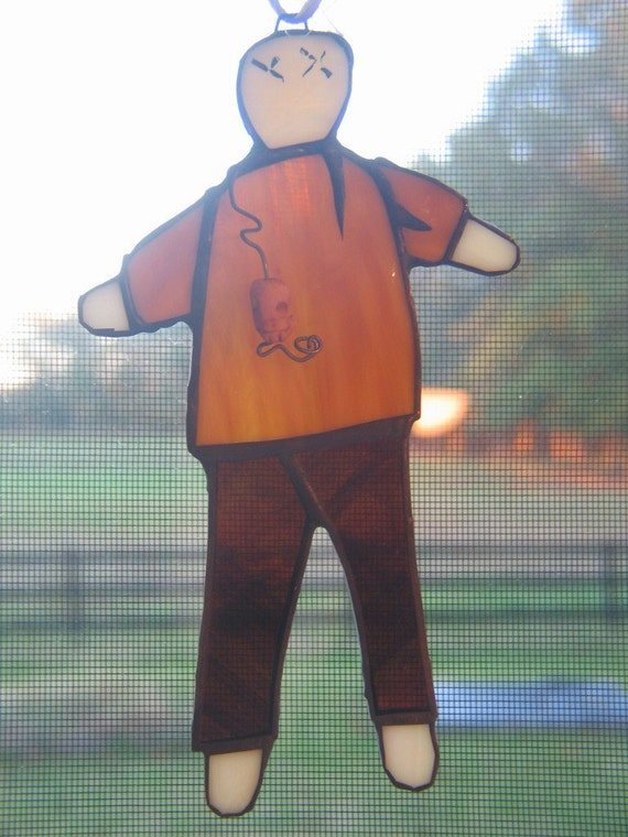 Stained Glass Voodoo Doll Suncatcher