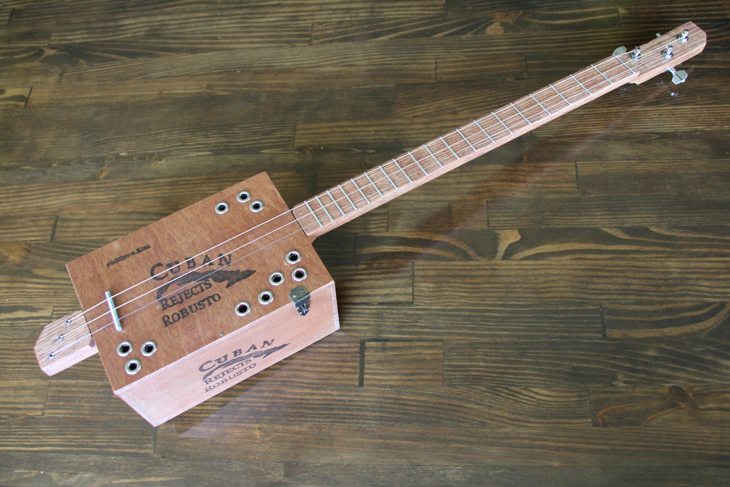 cigar box guitar 3 string. Black Bedroom Furniture Sets. Home Design Ideas