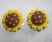 Sunflower Cupcakes Studded Earrings