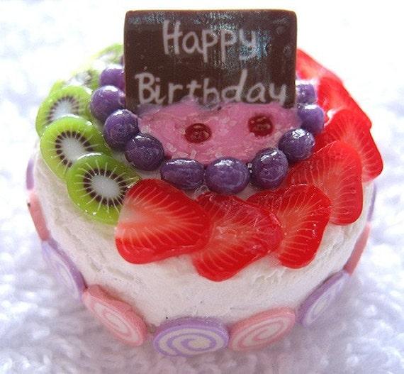 Items Similar To Happy Birthday Fruit Cake On Etsy