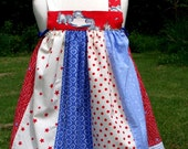 Clearance Sale  Toddler girls Summer sundress ready to ship size 2 and size 3-4 Free Shipping