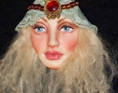 Gypsy Maiden Lady, Art Doll Face CAB Fairy