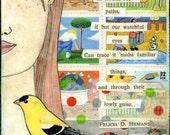 BEAUTY ALL AROUND Collage Art Postcard Set Felicia Hemans