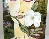 Collage Art Greeting Card Nietzsche Quote