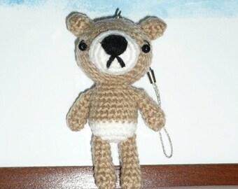 Amigurumi Baby Bear Cell Charm.