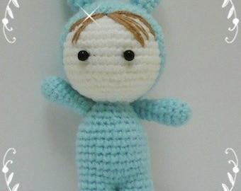 Amigurumi Baby in Bunny Suit