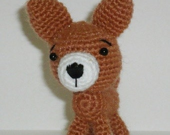 Amigurumi Tiny Little Chihuahua  Approx 6 cm.