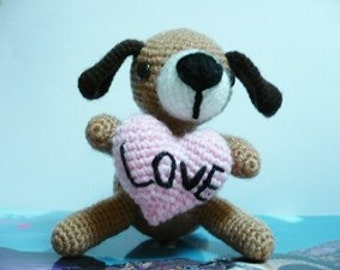 Amigurumi Puppy IN LOVE.