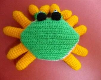 Amigurumi green Crab.
