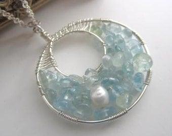Sea Witch  Aquamarine Necklace