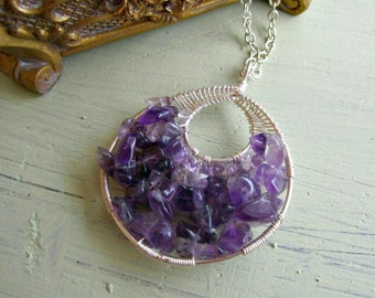 Amethyst Goddess Wrap Necklace