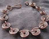 mini spirals copper bracelet