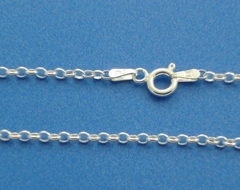 Sterling Silver 2.1mm 16 inch Rolo Necklace Chain Jewelry Supply
