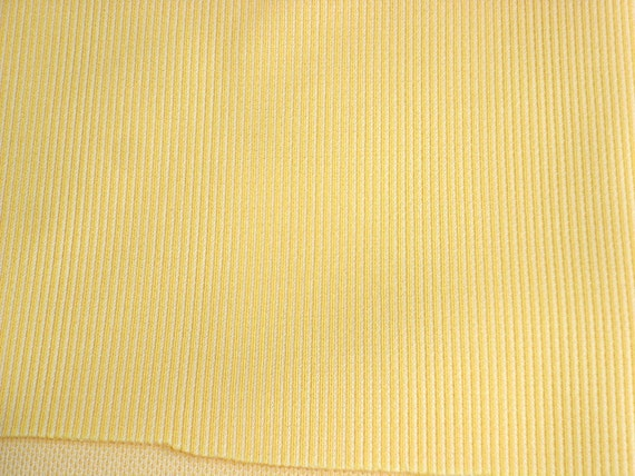 Yellow Solid Color Light Rib Knit Fabric 64 x 3 Yards