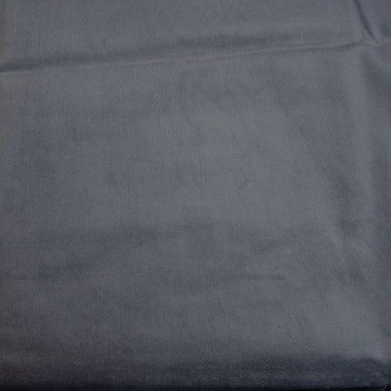 Gray Solid Color Cotton Brushed Corduroy Fabric 40 x 44