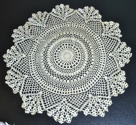 Large Vintage Crocheted Doily