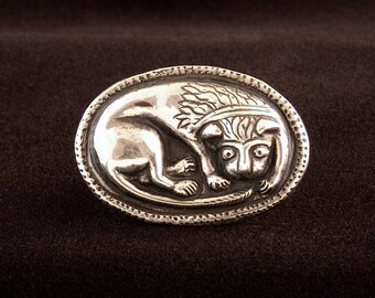 Medieval Sterling Lion Ring