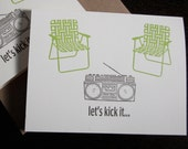 Let's Kick It - Letterpress Printed 50-Pack Art Cards
