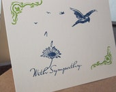 With Sympathy - Gocco Screen-printed Card