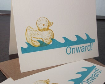 Onward - 12-Pack Gocco Screen-Printed Cards