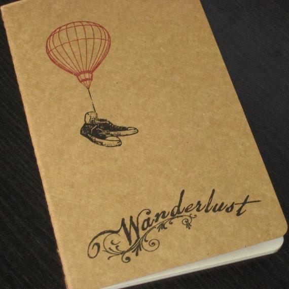 Wanderlust - Gocco Screen-Printed Lined Notebook