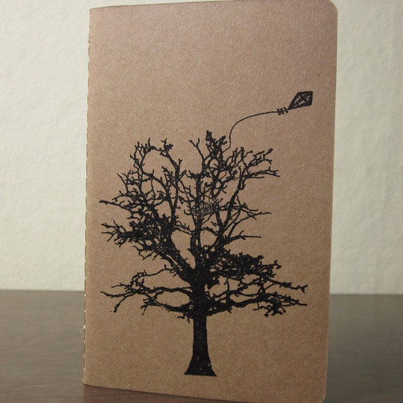 Kite and Tree - Lined Screen-Printed  Notebook
