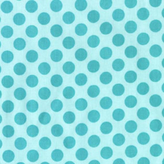 LAST yard Michael Miller Sea Aqua Blue Tadot Ta Dot 1 yard Fabric Polka dots