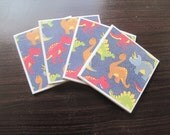 Tile Coasters Dinosaurs Rawr (Set of 4)