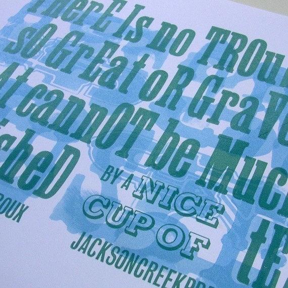 A good cup of Tea - letterpress poster