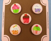 Cute Cupcake Magnet Set