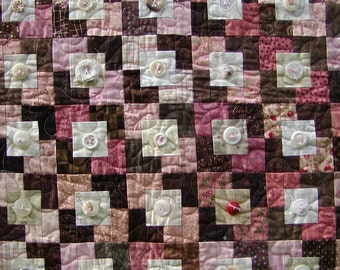 One Red Button Quilt
