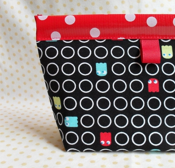 Inky and Blinky Oilcloth Snappy Pouch