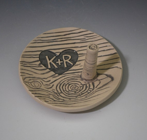Ring Dish, customized wood grain