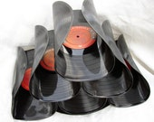 Wine Rack, Recycled LP vinyl record, Red Label Collection, Earth Friendly Functional Art