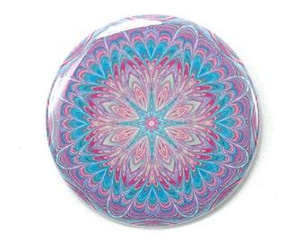 2.25 inch Mandala Magnet 8 - Purple and Blue Magnet - Office, Kitchen, Locker - Gifts Under 5 Dollars