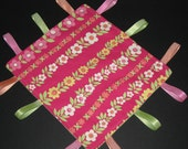 Tag Lovey in Magenta Floral and Green Flannel