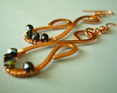 Mother Daughter - Copper Earrings